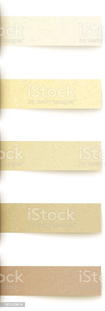 recycled paper labels set royalty-free stock vector art