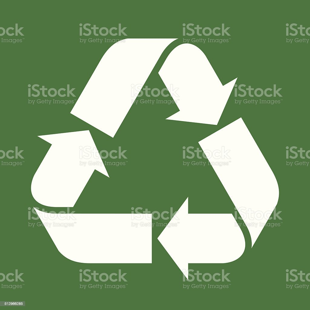 Recycled paper symbol vector art illustration