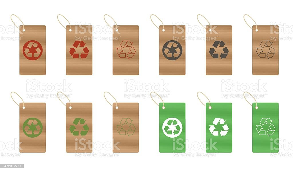recycled paper tags royalty-free stock vector art