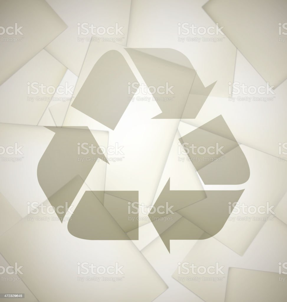 Recycled papers royalty-free stock vector art