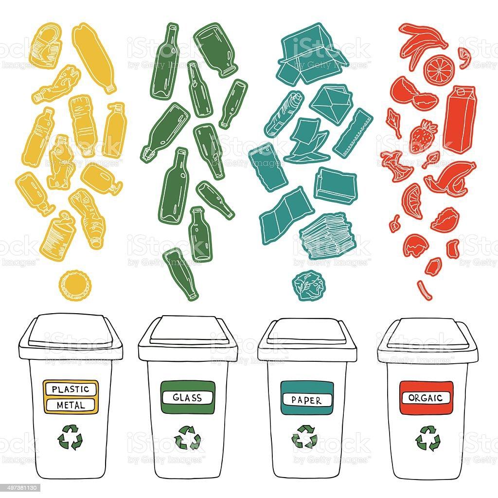 Recycles 1 vector art illustration