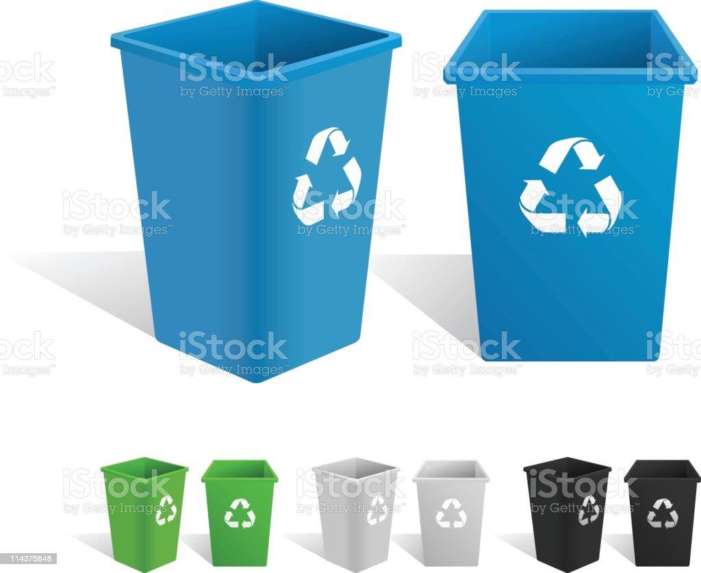 Recycling Bin royalty-free stock vector art