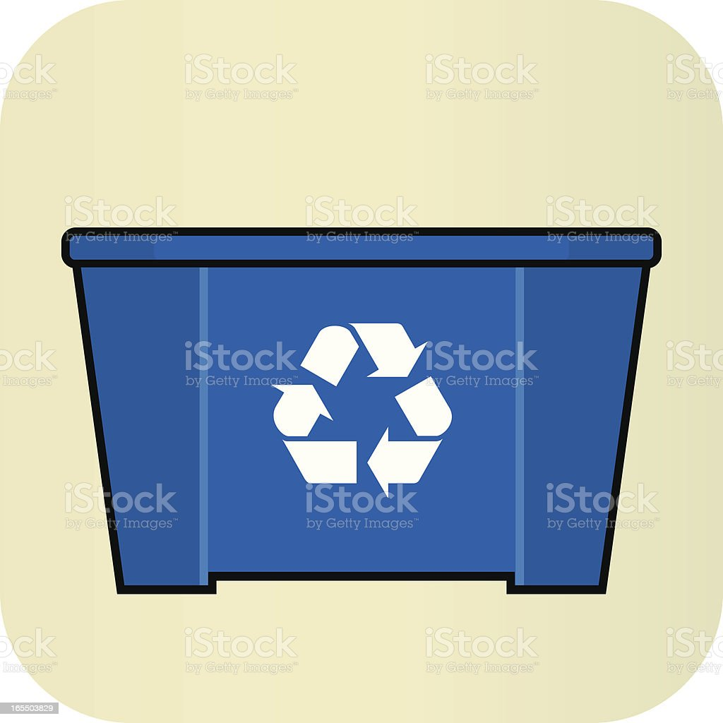Recycling Bin royalty-free stock vector art