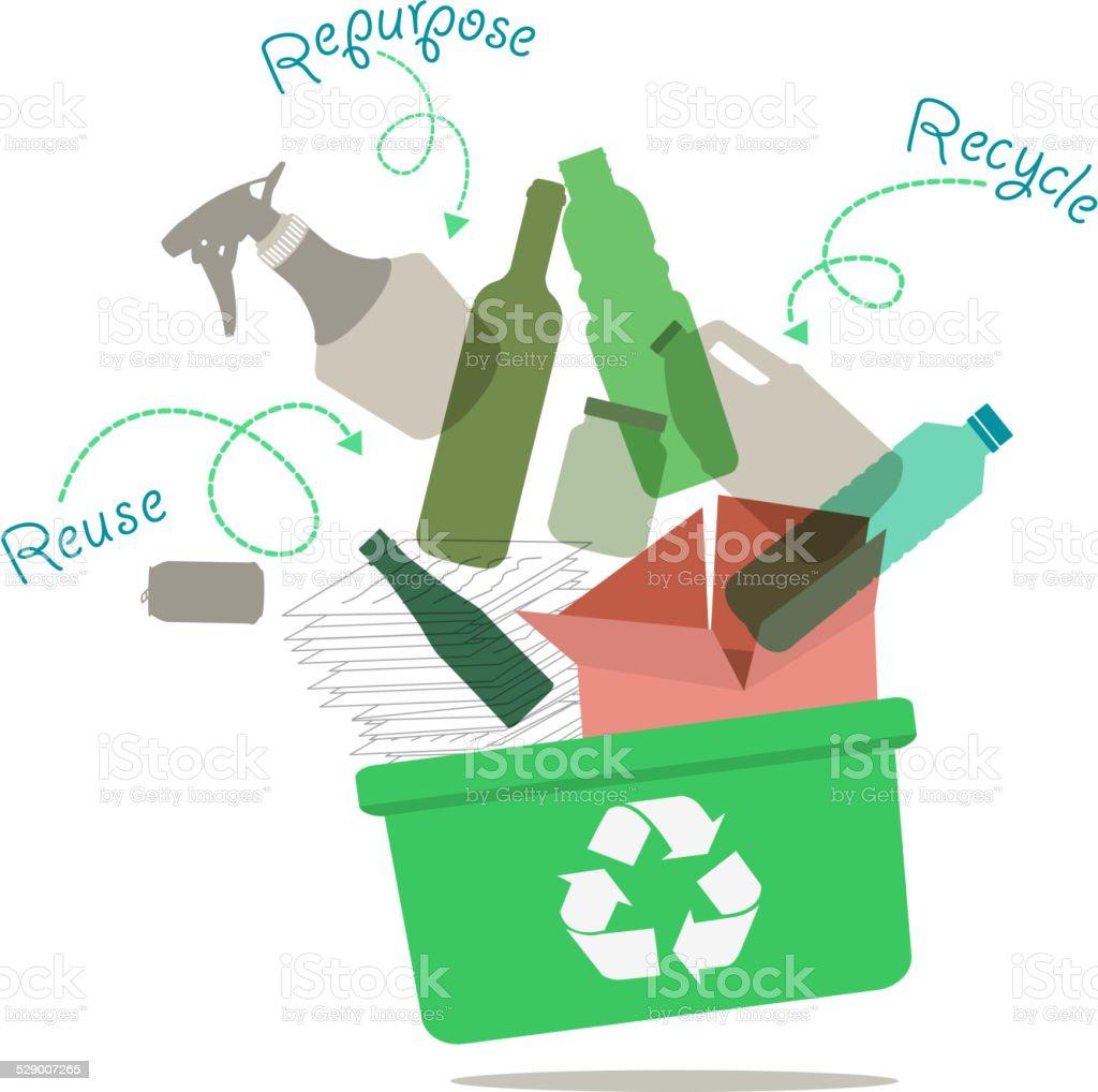 Recycling Concept vector art illustration