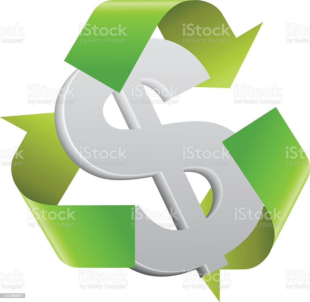 Recycling Dollars royalty-free stock vector art