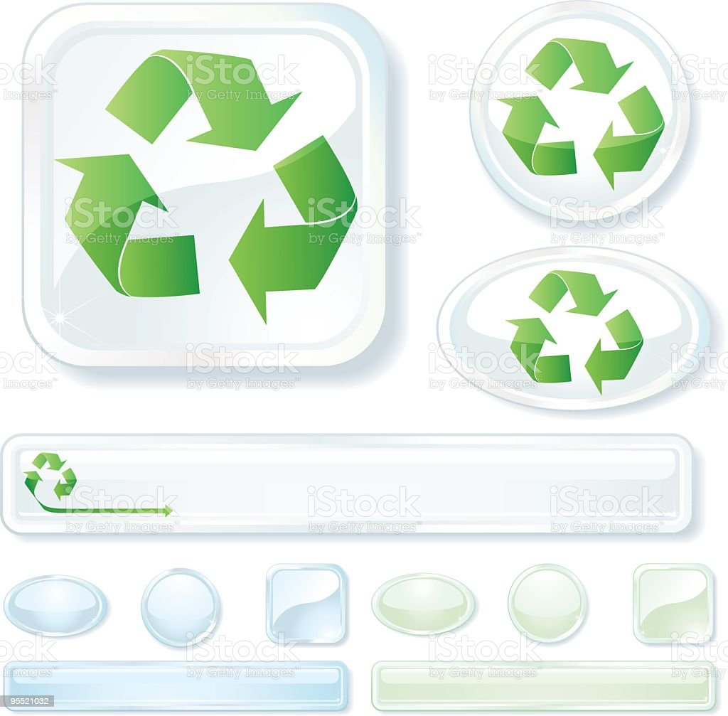 Recycling Icon vector art illustration