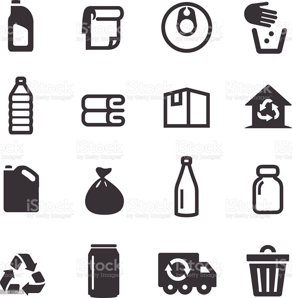 Recycling Icons - Acme Series royalty-free stock vector art