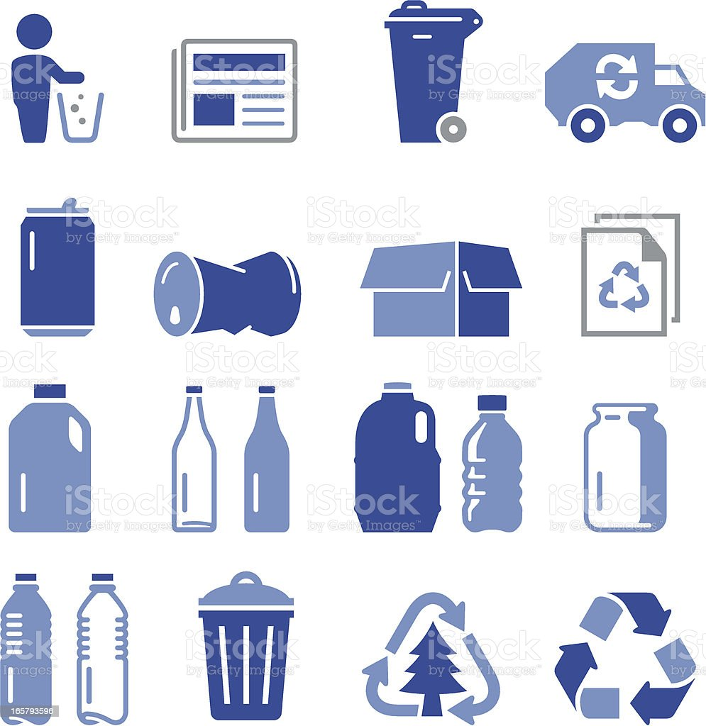 Recycling Icons - Pro Series royalty-free stock vector art