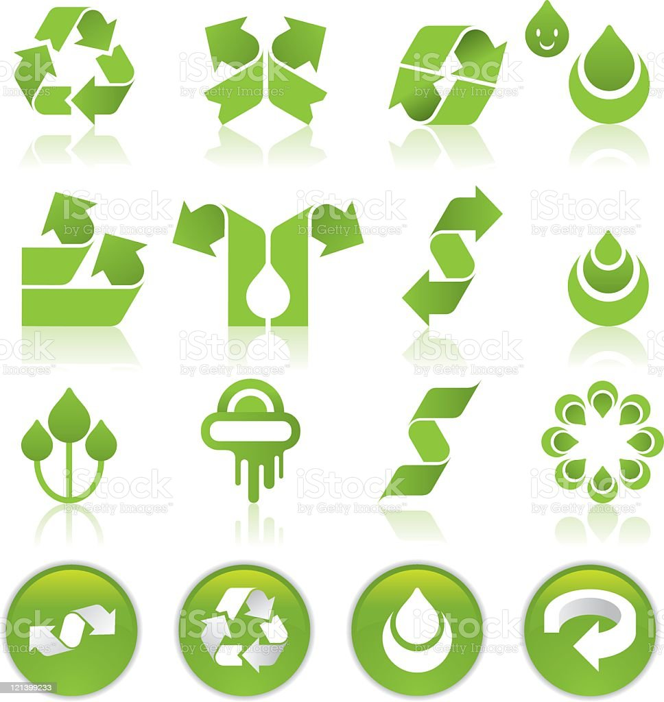 Recycling Icons royalty-free stock vector art