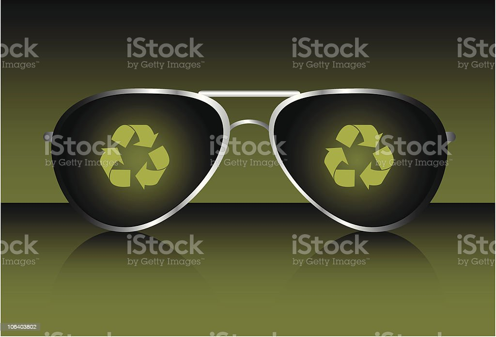 Recycling Is Cool royalty-free stock vector art