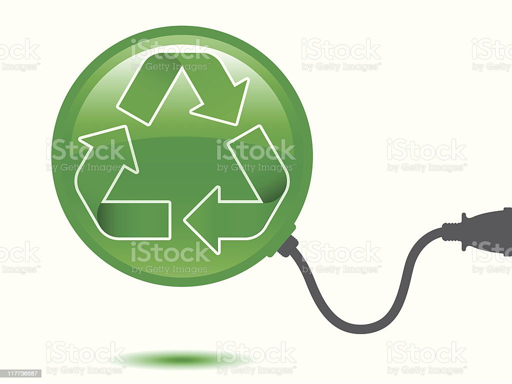 Recycling pictogram with connector royalty-free stock vector art