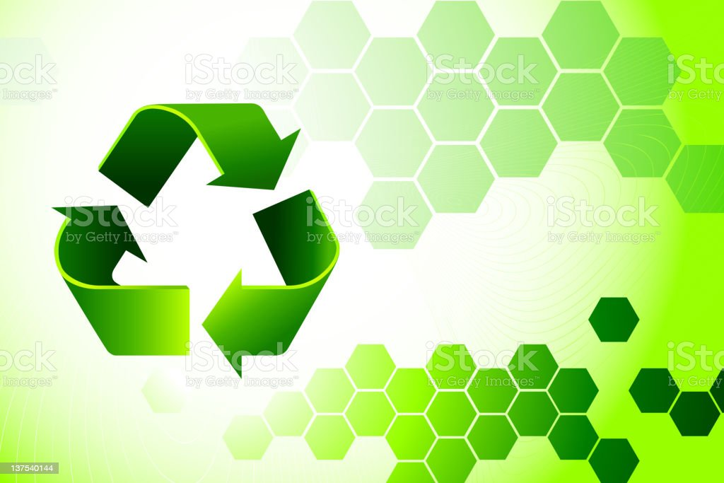 recycling sign on environmental Background royalty-free stock vector art