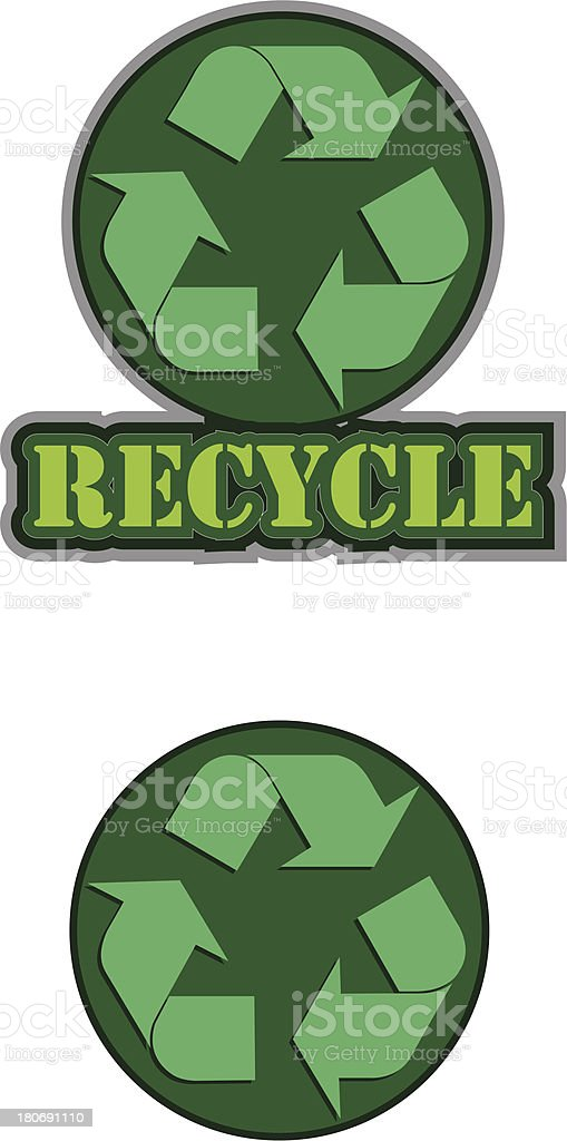 Recycling sign royalty-free stock vector art
