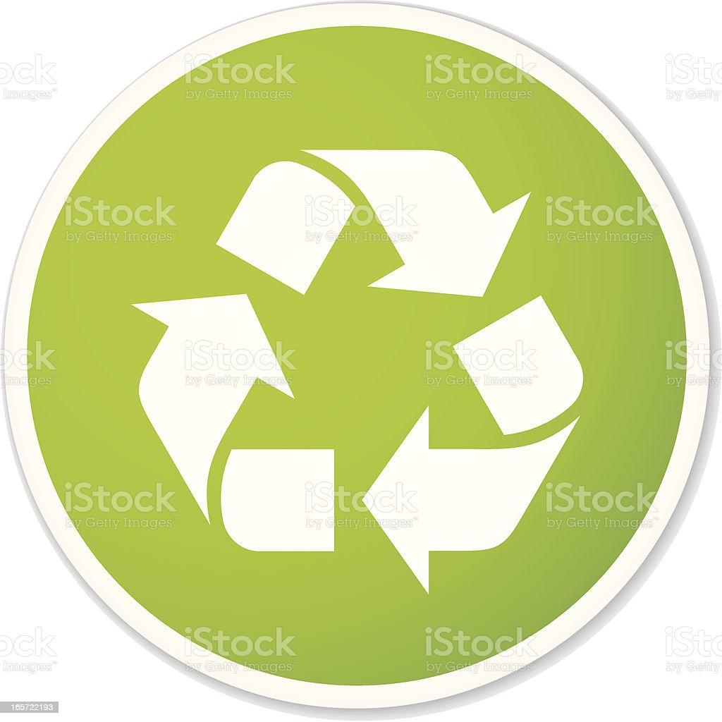 recycling simbol sticker royalty-free stock vector art