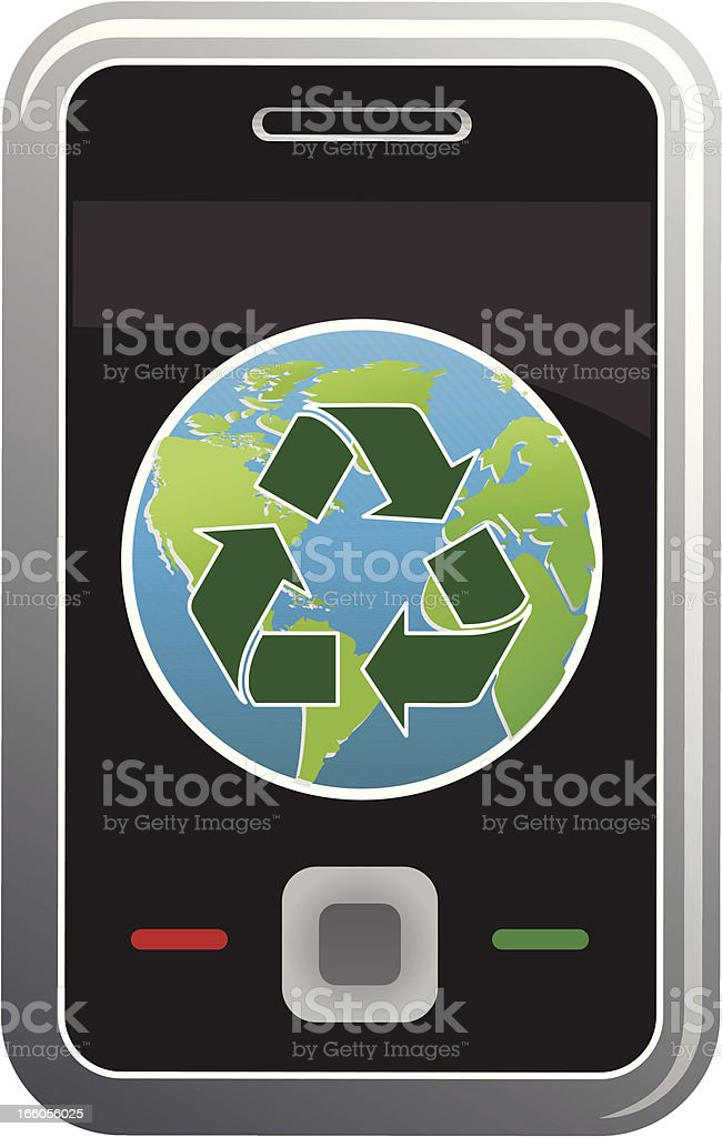 recycling smart phone royalty-free stock vector art