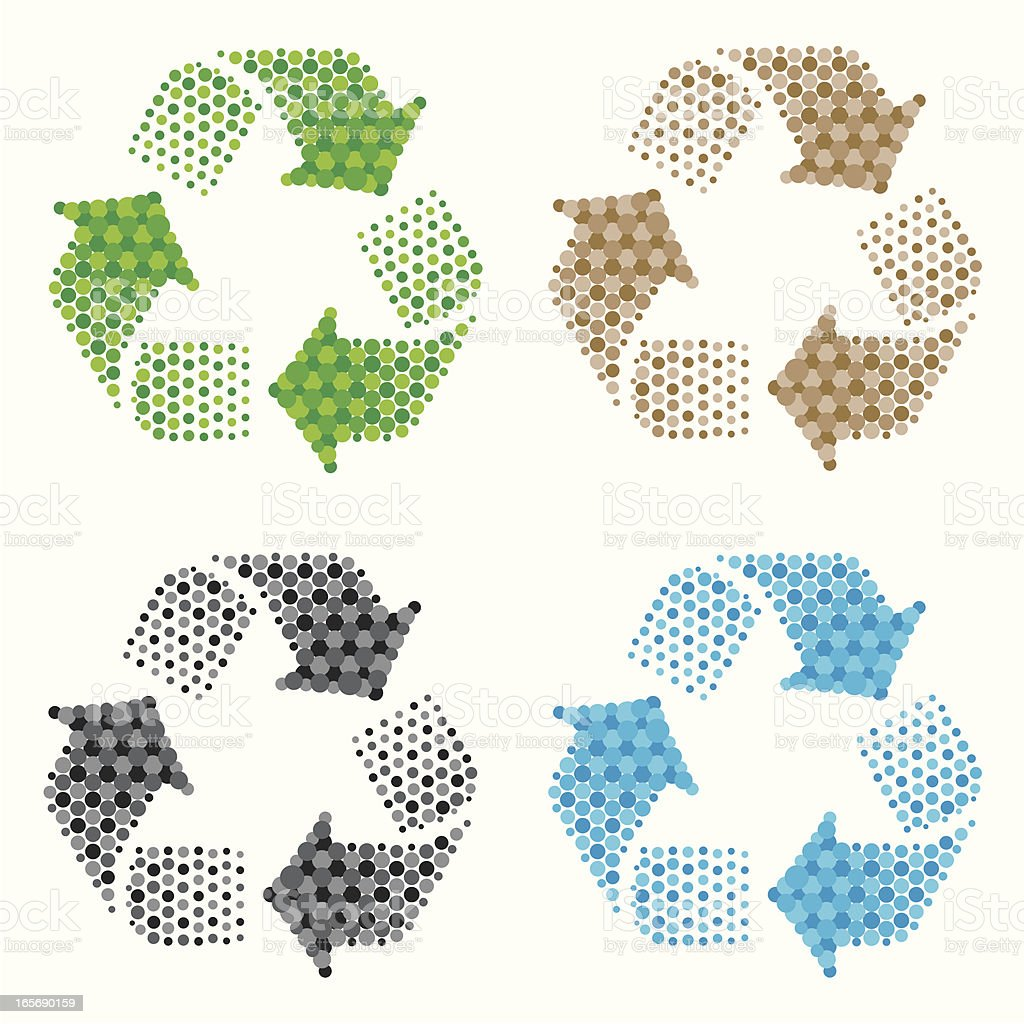 recycling symbol royalty-free stock vector art
