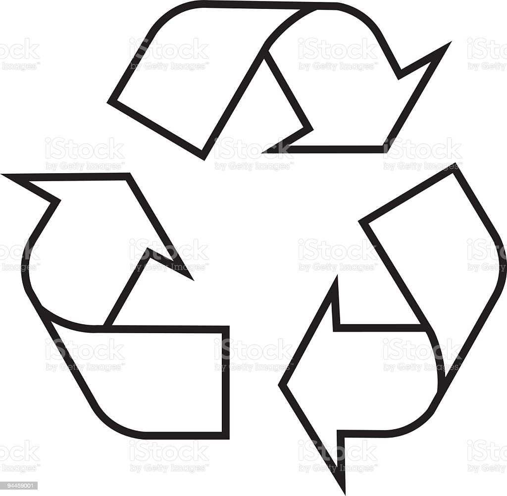Recycling Symbol - Vector royalty-free stock vector art