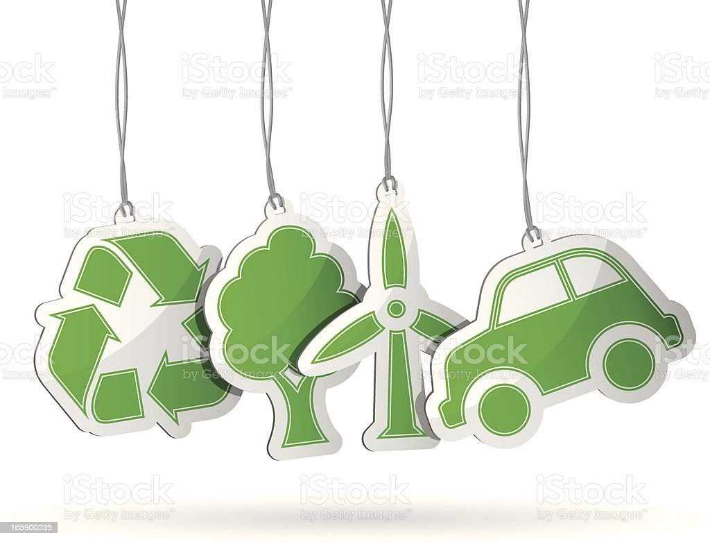 Recycling Tags royalty-free stock vector art