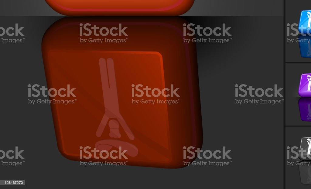 red 3D icon of pizza chef royalty-free stock vector art