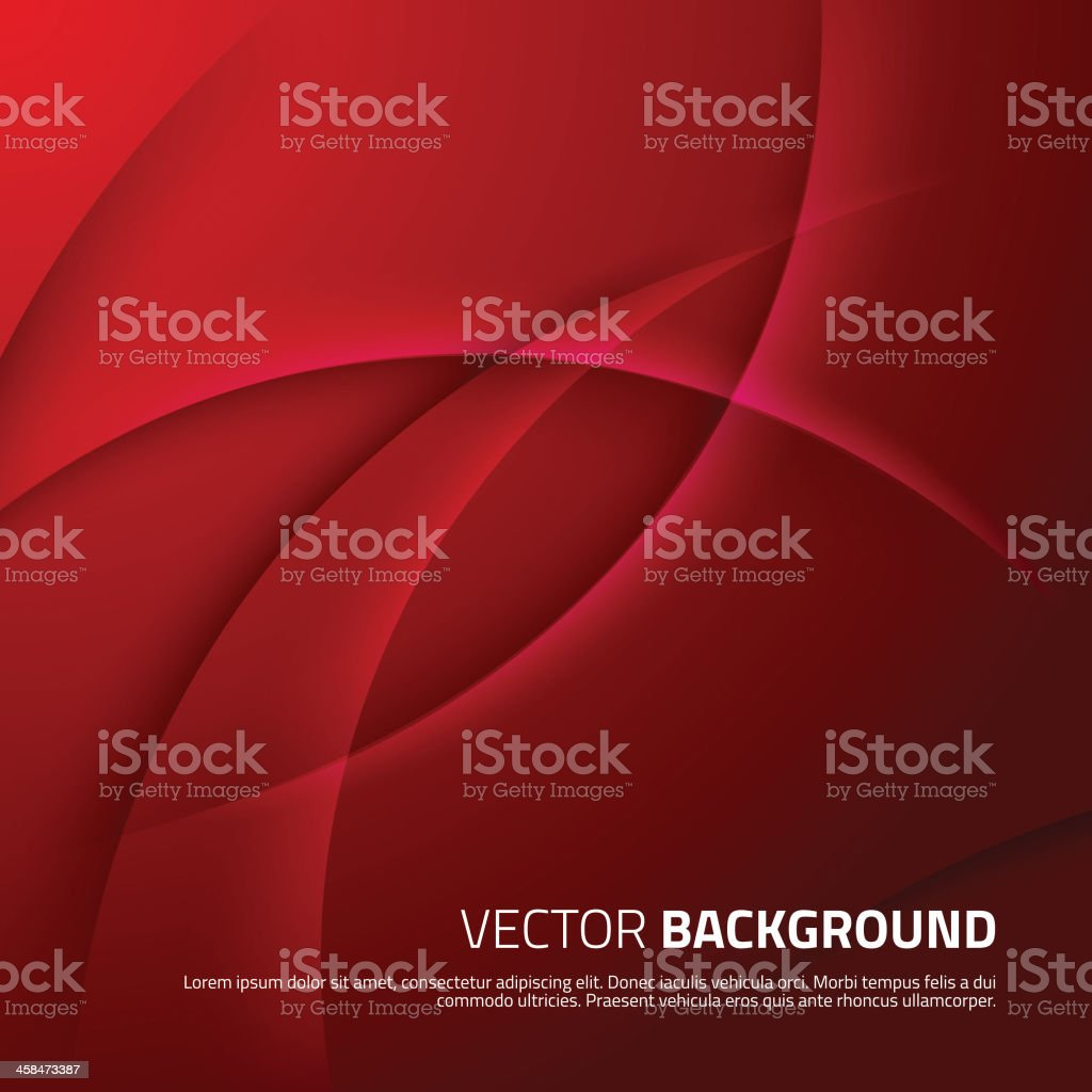 Red abstract background with shadows vector art illustration