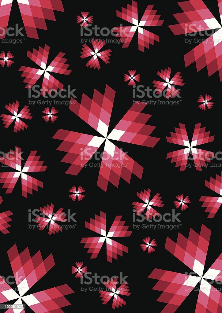 Red Abstract Diamond Repeat Pattern royalty-free stock vector art