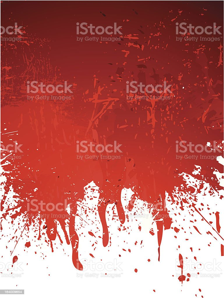 Red abstract grungy background vector art illustration