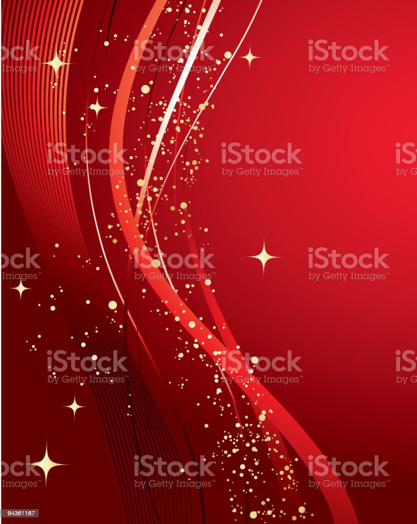 Red abstract holiday background royalty-free stock vector art