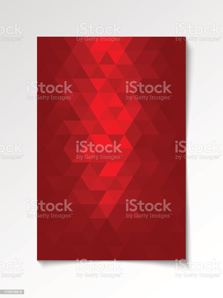 Red abstract modern flyer vector art illustration