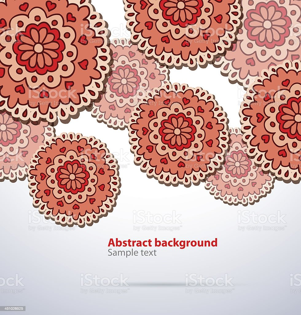Red abstract pattern background royalty-free stock vector art