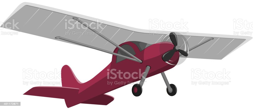 red airplane isolated on white background royalty-free stock vector art