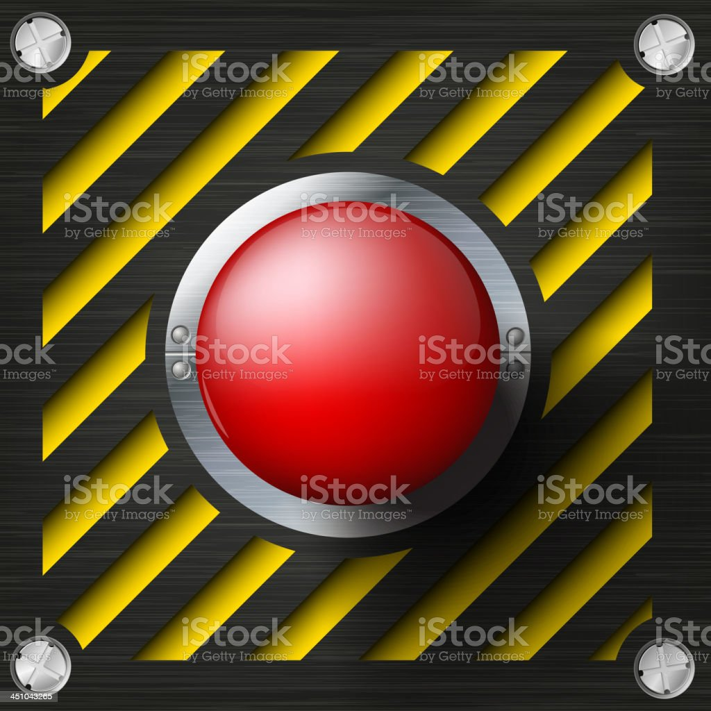 Red alarm shiny button royalty-free stock vector art