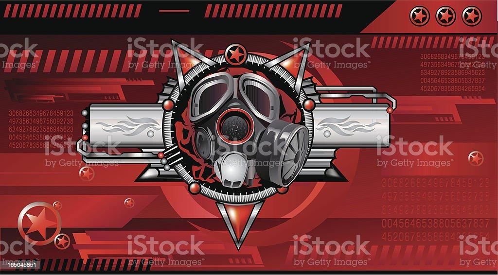 Red Alert vector art illustration