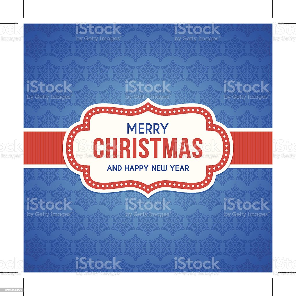 Red and blue Christmas card sample royalty-free stock vector art