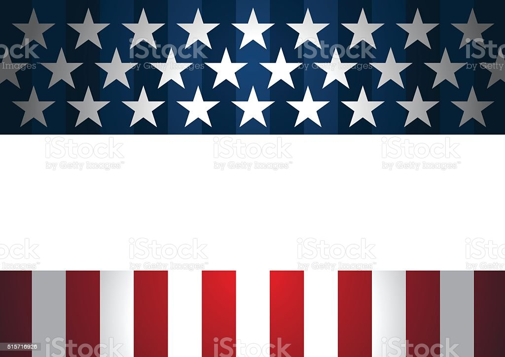 Red and Blue Rising star background vector art illustration