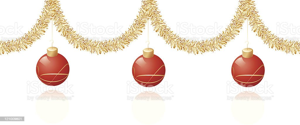 Red and gold Christmas decoration royalty-free stock vector art