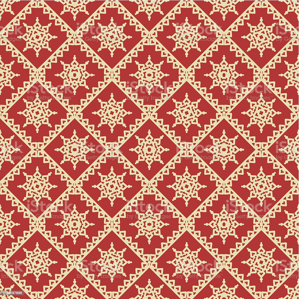 Red and gold holiday seamless background vector art illustration