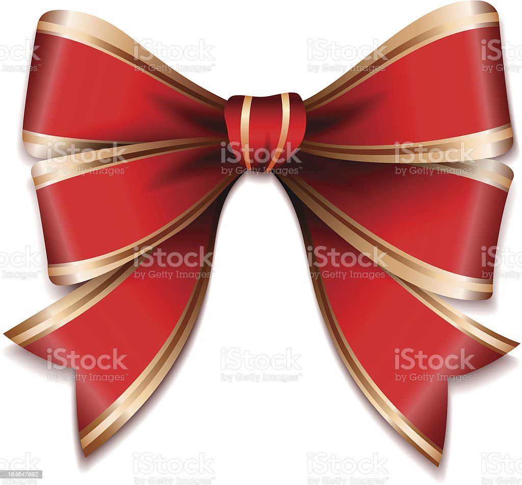 Red and gold vector gift bow royalty-free stock vector art