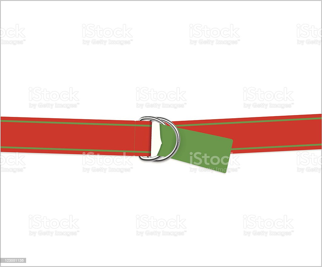 Red and Green Belt royalty-free stock vector art