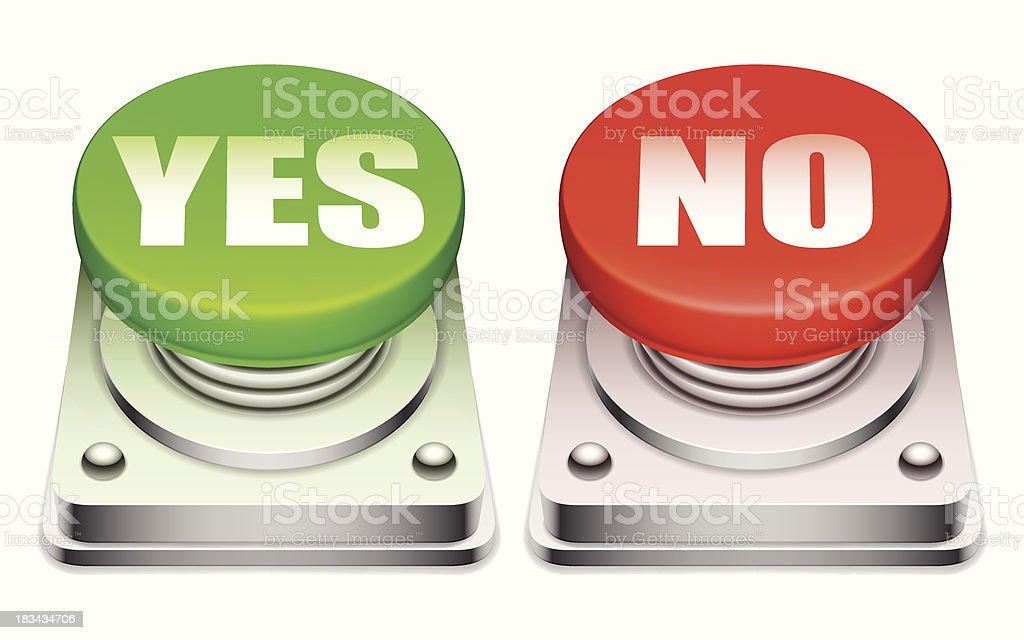 Red and green buttons. royalty-free stock vector art