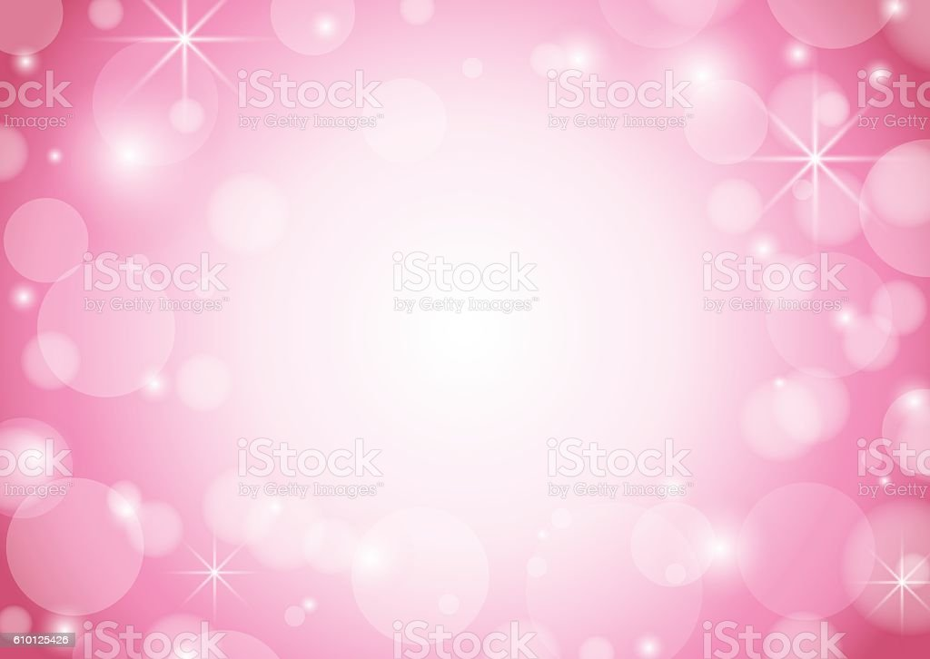 red and white background with bokeh and stars - vector vector art illustration