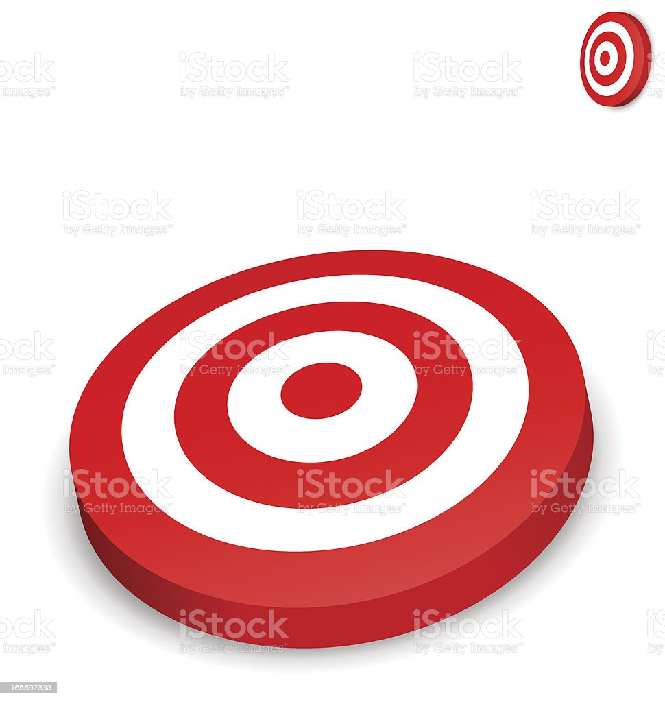 Red and White Bullseye Target royalty-free stock vector art