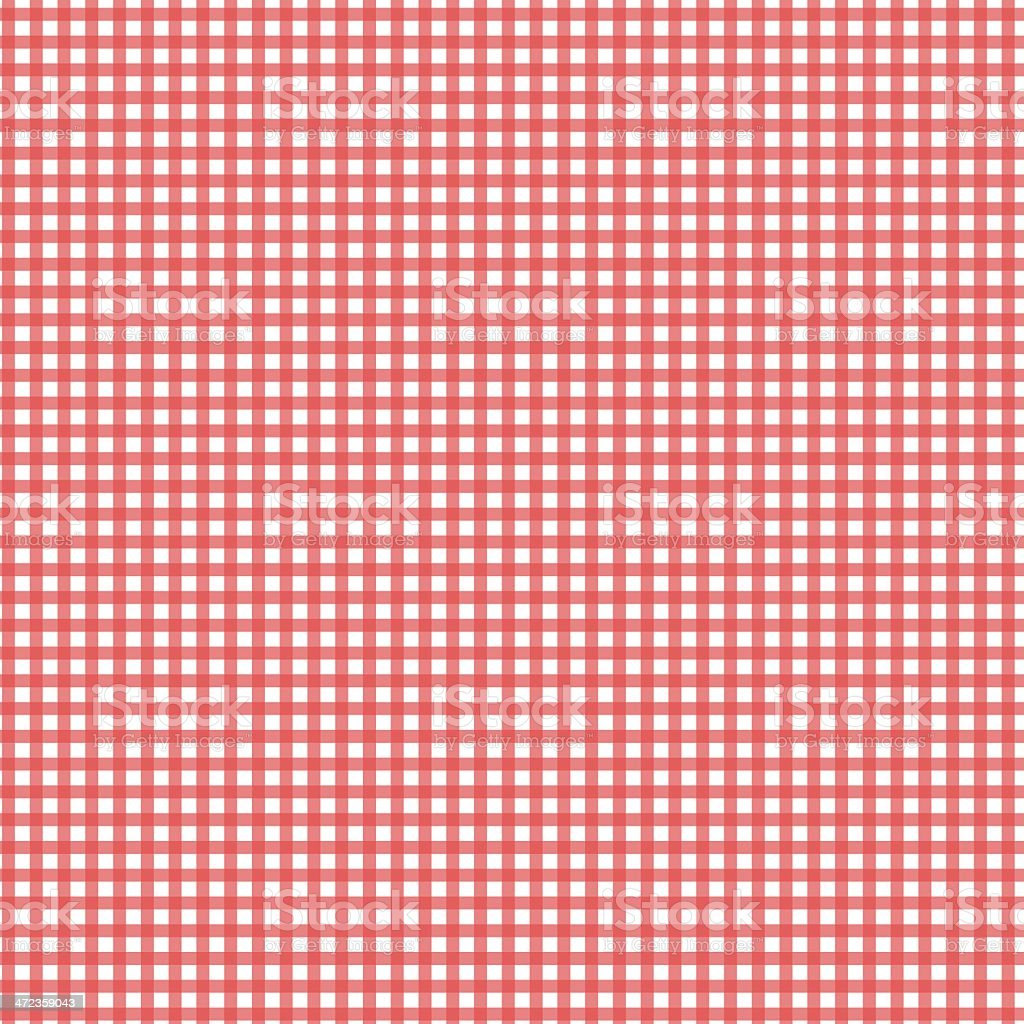 Red and white checkered tablecloth vector art illustration