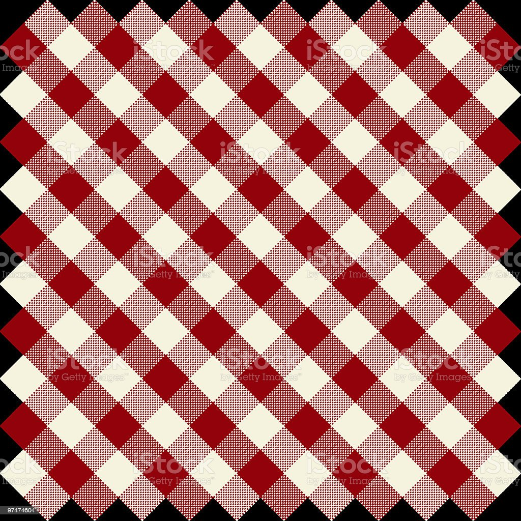 red and white checks royalty-free stock vector art