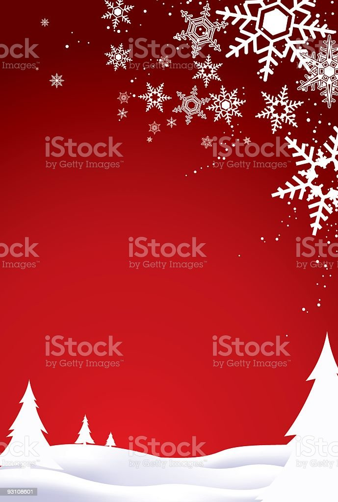 Red and white Christmas background vector art illustration