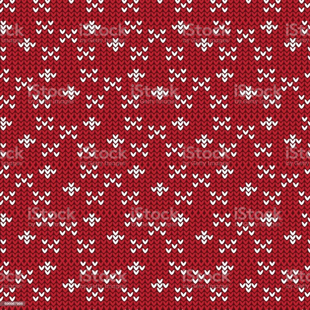 red and white cross sign and diamond shape knitting pattern background vector art illustration
