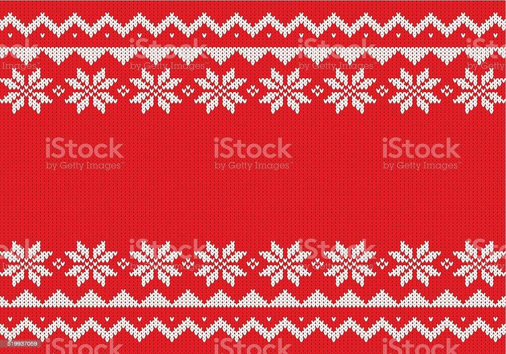 red and white knitted background vector art illustration
