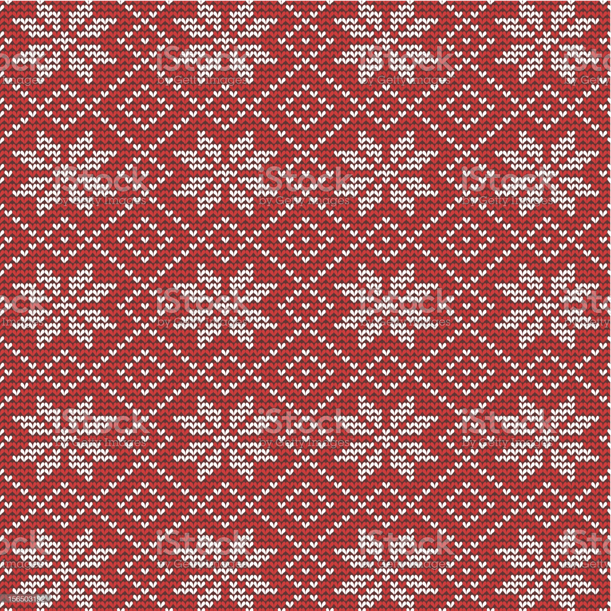 Red and white knitted snowflakes background royalty-free stock vector art