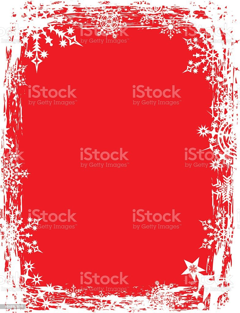 A red and white snowflake background royalty-free stock vector art