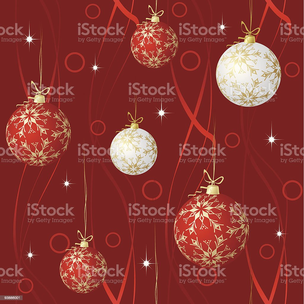 Red and white spheres royalty-free stock vector art