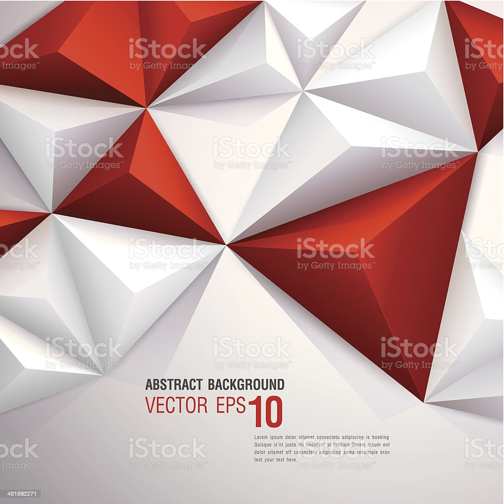 Red and white vector geometric background. royalty-free stock vector art